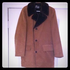 Mens Vintage Corduroy Long Coat